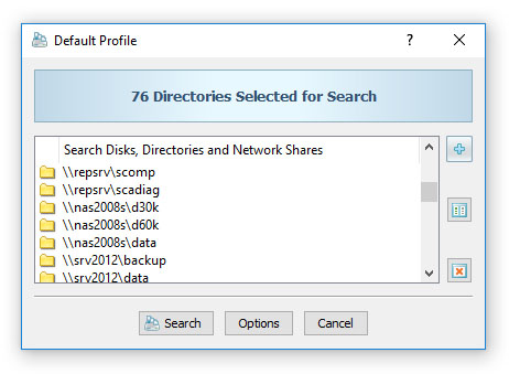 Searching Duplicate Files in Network Servers