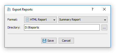 DupScout Batch Reports Dialog